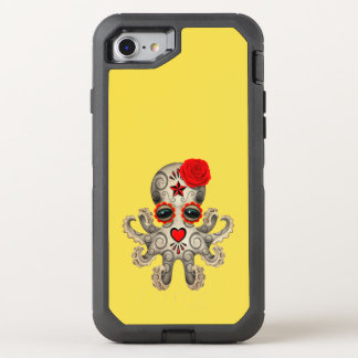 Red Day of the Dead Baby Octopus OtterBox Defender iPhone 7 Case