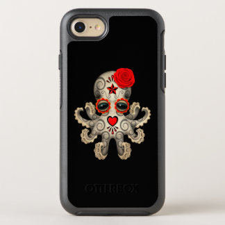 Red Day of the Dead Baby Octopus OtterBox Symmetry iPhone 7 Case
