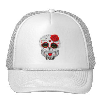 Red Day of the Dead Baby Owl Trucker Hat