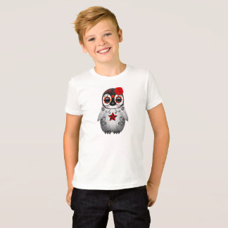 Red Day of the Dead Baby Penguin T-Shirt