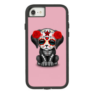 Red Day of the Dead Baby Puppy Dog Case-Mate Tough Extreme iPhone 8/7 Case