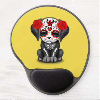 Red Day of the Dead Baby Puppy Dog Gel Mouse Pad