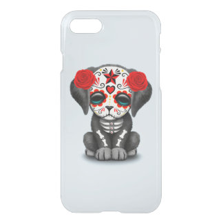 Red Day of the Dead Baby Puppy Dog iPhone 8/7 Case