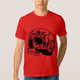 Red Day Of The Dead Candy Skull design Shirt