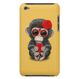 Red Day of the Dead Sugar Skull Baby Chimp iPod Touch Case-Mate Case