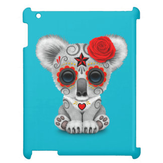 Red Day of the Dead Sugar Skull Baby Koala Case For The iPad 2 3 4