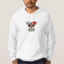 Red Day of the Dead Sugar Skull Baby Koala Hoodie
