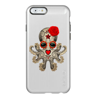 Red Day of the Dead Sugar Skull Baby Octopus Incipio Feather Shine iPhone 6 Case