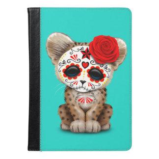 Red Day of the Dead Sugar Skull Leopard Cub iPad Air Case