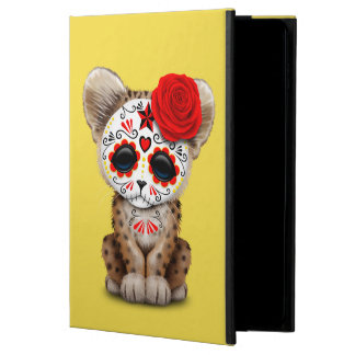 Red Day of the Dead Sugar Skull Leopard Cub Powis iPad Air 2 Case
