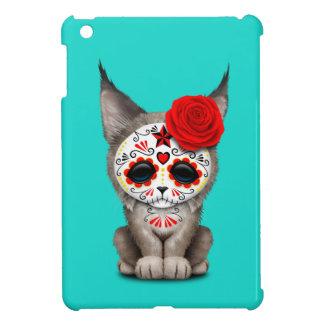 Red Day of the Dead Sugar Skull Lynx Cub Case For The iPad Mini