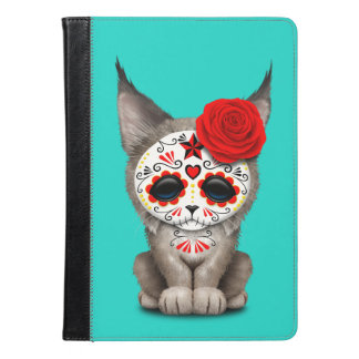 Red Day of the Dead Sugar Skull Lynx Cub iPad Air Case