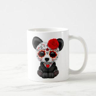 Red Day of the Dead Sugar Skull Panda Bear Coffee Mug