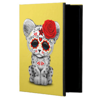 Red Day of the Dead Sugar Skull Snow Leopard Cub Powis iPad Air 2 Case