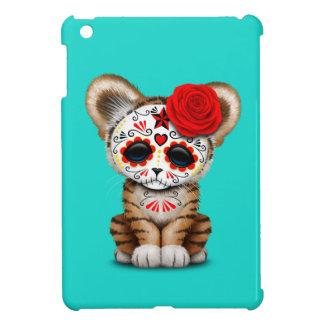 Red Day of the Dead Sugar Skull Tiger Cub Case For The iPad Mini