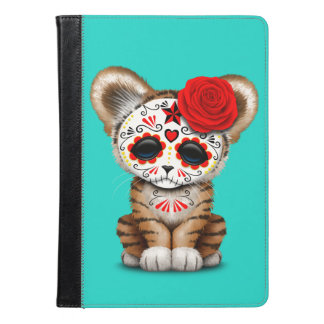 Red Day of the Dead Sugar Skull Tiger Cub iPad Air Case
