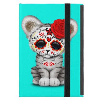 Red Day of the Dead Sugar Skull White Tiger Cub Case For iPad Mini