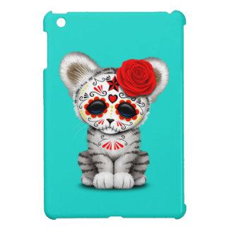 Red Day of the Dead Sugar Skull White Tiger Cub Case For The iPad Mini