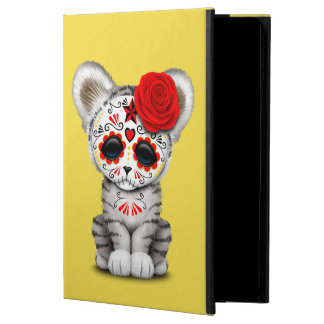 Red Day of the Dead Sugar Skull White Tiger Cub Powis iPad Air 2 Case