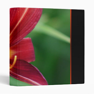 Red Daylily Avery Binder