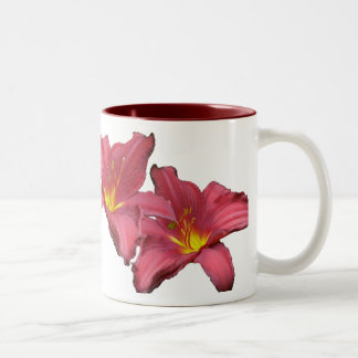 Red Daylily Coordinating Items Two-Tone Coffee Mug