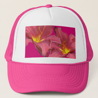 Red Daylily Coordinating Items Trucker Hat
