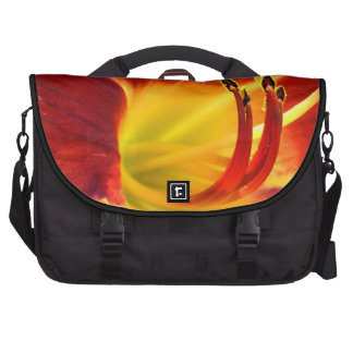 Red Daylily Laptop Bags