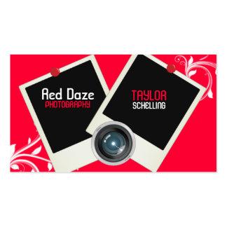 Red Daze Polaroid Photography Business Card