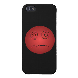 Red Dazed and Confused Smiley iPhone SE/5/5s Case
