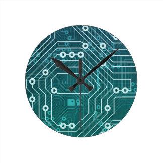 Red de datos de la placa de circuito reloj