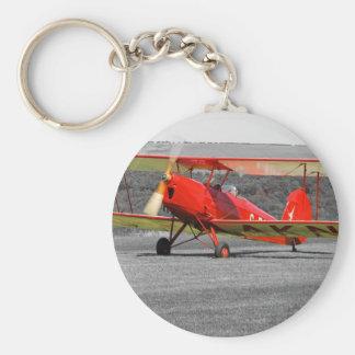 Red De Havilland Tigermoth Bi-Plane Keychain