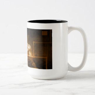 Red de la tecnología con la carta futurista del taza de dos tonos