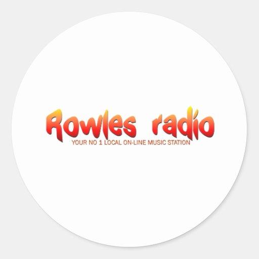 Red de radio de Rowles Pegatina Redonda