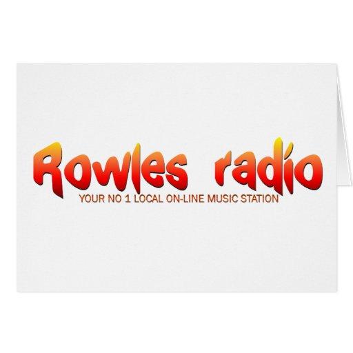 Red de radio de Rowles Tarjeta De Felicitación