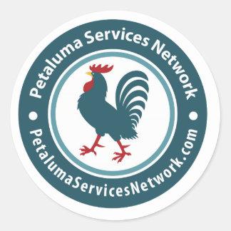 Red de servicios de Petaluma Pegatinas Redondas