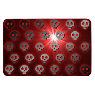 Red Dead Skulls Flexi Magnet