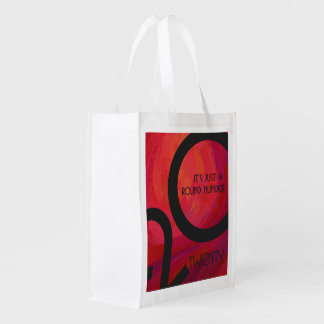 Red Decade Birthdday Market Totes