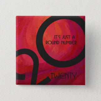 Red Decade Birthdday Pinback Button