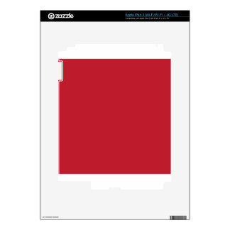 Red Decals For iPad 3