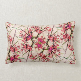 Red Deco Geometric Nature Collage Floral Motif Pillows