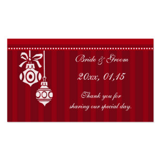 Red Decorations Christmas Wedding Favor Tags Business Card