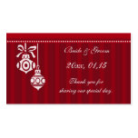 Red Decorations Christmas Wedding Favor Tags Business Cards