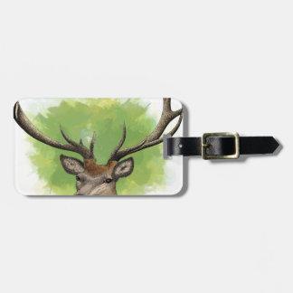 Red Deer Bag Tag