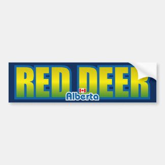Red Deer Bumper Bumper Sticker