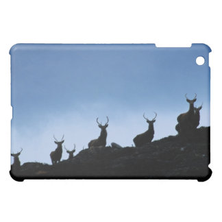 RED DEER (CERVUS ELAPHUS) SILHOUETTED AGAINST CASE FOR THE iPad MINI