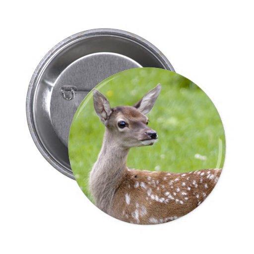 Red Deer Fawn Badge Pin