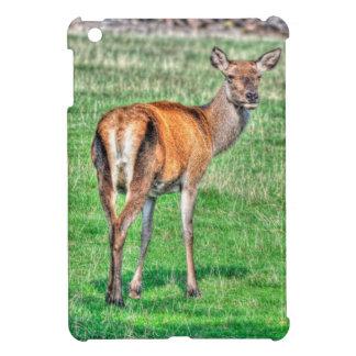 Red Deer & Field Wildlife Animal Design iPad Mini Cover