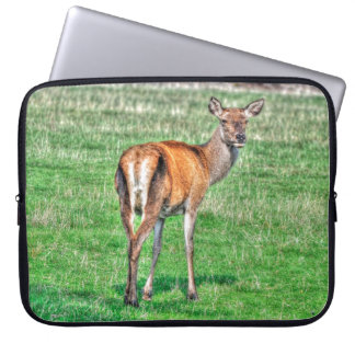 Red Deer & Field Wildlife Animal Design Laptop Sleeve