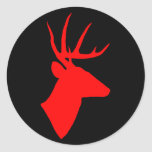 Red Deer Head Sticker