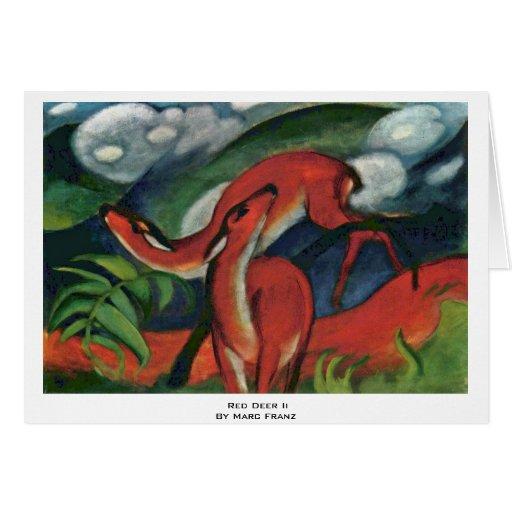 Red Deer Ii By Marc Franz Card